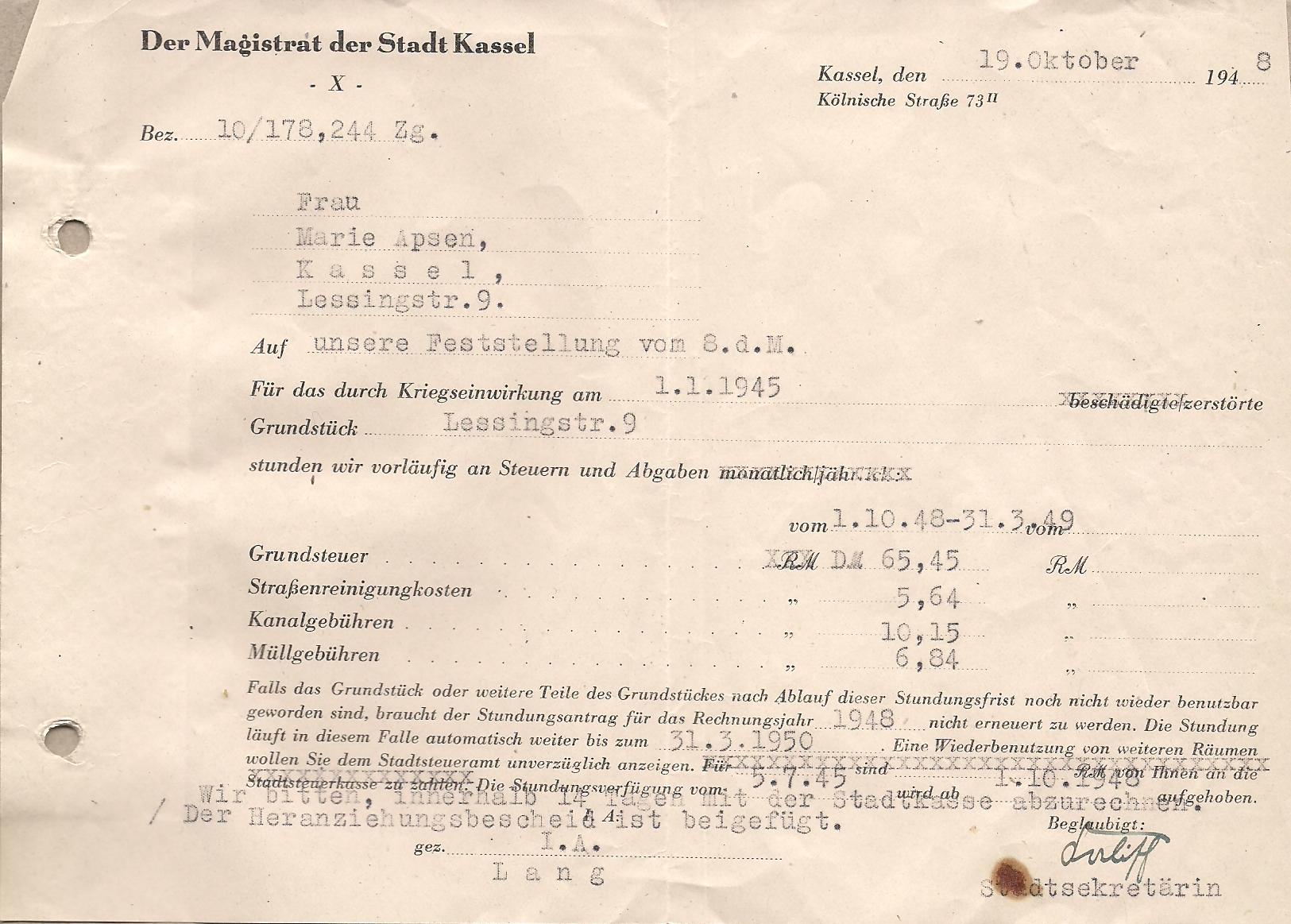 Gebuehrenschraube1948